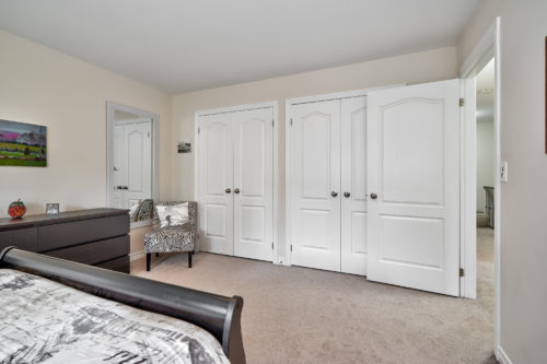 View of Double Closets in Second Bedroom