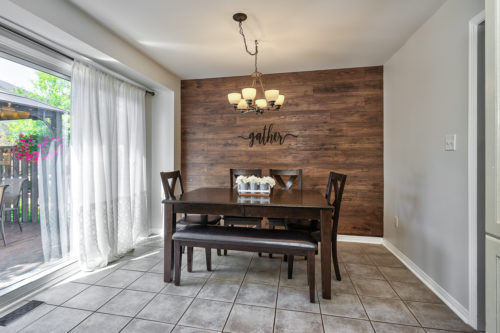 Large Dining Area with Walk Out to Deck
